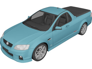 Holden Commodore Ute (2011) 3D Model 3D Preview