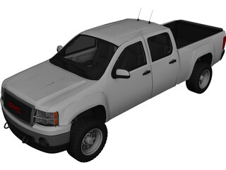 GMC Sierra (2010) 3D Model 3D Preview