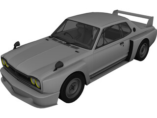 Nissan Skyline C10 GT-R 3D Model 3D Preview