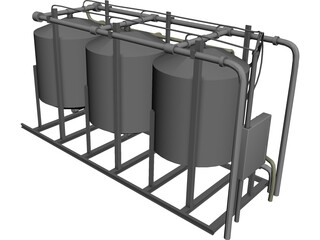 Water Filter Tanks 3D Model