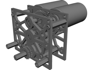 Team 3008 FRC Gearbox CAD 3D Model