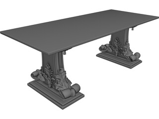 Rosewood Table 3D Model
