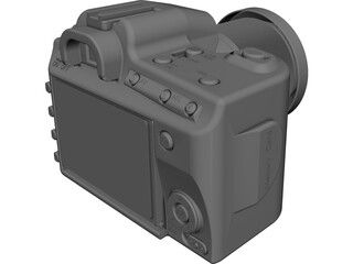 Sony Alpha 300 Camera CAD 3D Model
