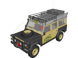 Land Rover Defender 110 Camel Trophy 3D Model