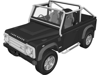 Land Rover Defender SVX 3D Model