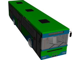 Man Bus CAD 3D Model