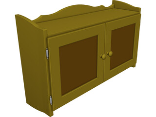 Wall Cabinet In Pine CAD 3D Model