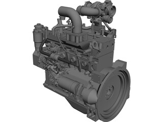 Engine Cummins B3.3TAA CAD 3D Model