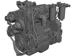 Engine Cummins QSB4.5TAA CAD 3D Model