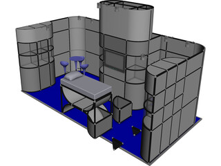 Modular Exhibition Booth 3D Model