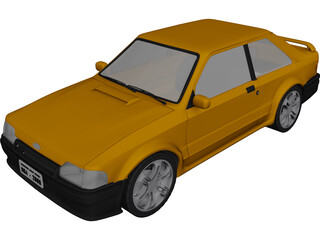 Ford Escort MK4 3D Model