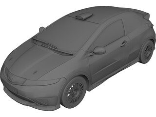 Honda Civic 3-door 3D Model