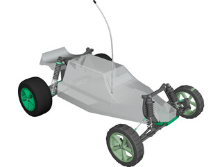 Losi RC Car CAD 3D Model