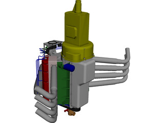 Dragster Engine CAD 3D Model