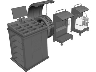 Tire Fitting Equipment 3D Model