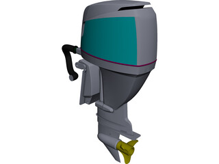 Yamaha Outboard Motor 3D Model 3D Preview