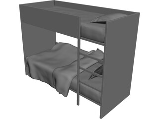 Children Stacked Bed 3D Model