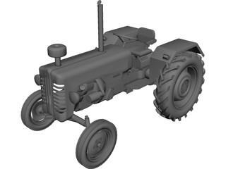 Mc Cormik D326 Tractor CAD 3D Model
