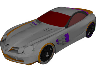 Mercedes-Benz McLaren SLR CAD 3D Model