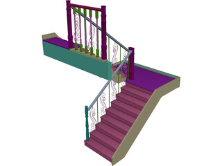 House Stairs 3D Model