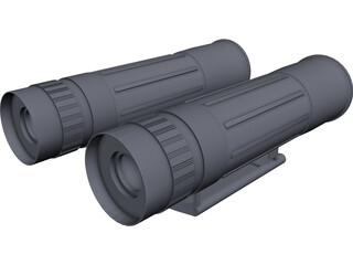 Binoculars Mini CAD 3D Model