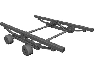 Trailer Suspension Chassis CAD 3D Model