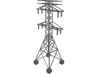 Electric Tower 3D Model