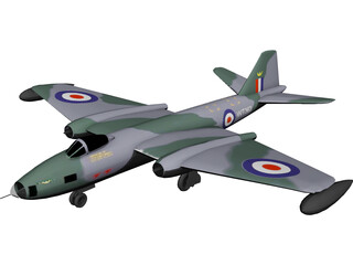 English Electric BAC Canberra B 8 3D Model