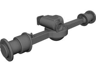 Rockwell Front Axle CAD 3D Model
