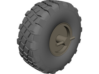 HMMWV Mud Tire CAD 3D Model