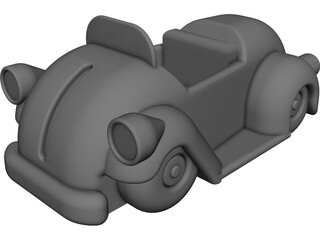 Cartoon Car CAD 3D Model