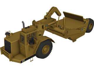 Caterpillar 631D Scraper 3D Model