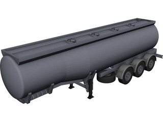 Tanker Semi Trailer 3D Model