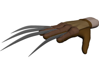 Freddy Krueger Hand 3D Model