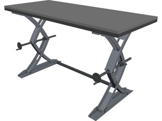 Lifting Table CAD 3D Model