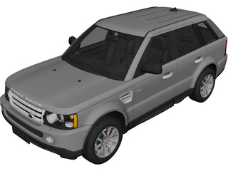 Range Rover Sport (2008) 3D Model 3D Preview