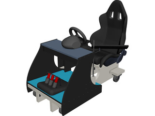 Racing Game Cockpit 3D Model