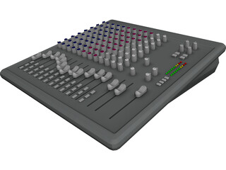 Audio Mixing Console 3D Model