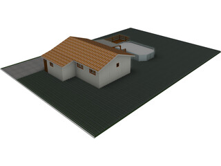 House Chalet Tectobois 3D Model