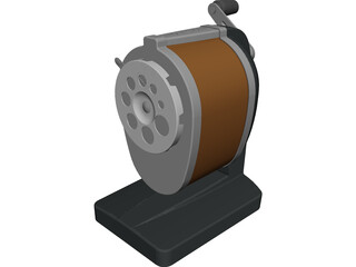 Pencil Sharpener CAD 3D Model