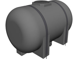 Water Tank 535 Gallon CAD 3D Model
