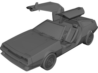 DMC DeLorean (1980) 3D Model