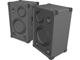 Speaker 3 Way Pair 3D Model