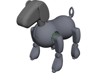 Sony Aibo CAD 3D Model