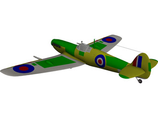 Supermarine Spitfire CAD 3D Model