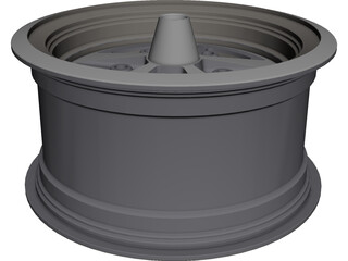 Dodge Charger Road Wheel Class III Rim CAD 3D Model