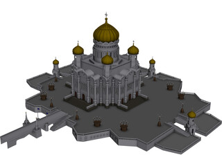 Taj Mahal Mosque 3D Model