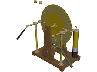 Wimshurst Machine 3D Model