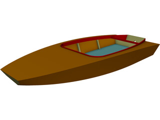 Boat Catamaran CAD 3D Model