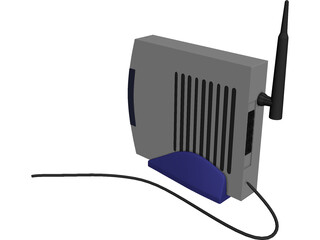 Modem Wireless 3D Model